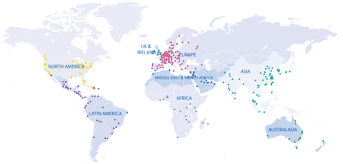 map of MGI - CPAAI network of firms