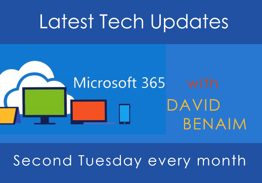 NOW available to watch on demand, David Benaim's latest webinar: Is Microsoft Lists the successor to Excel?