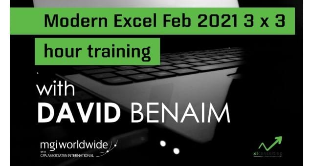 Modern Excel 3x3-hour Training