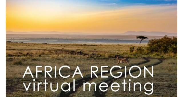 Africa Region Virtual Meeting PROVISIONAL DATES