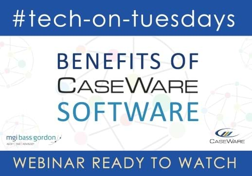 Interested in learning more about the benefits of using CaseWare? Hear from a fellow member in a recording of this week's #tech webinar